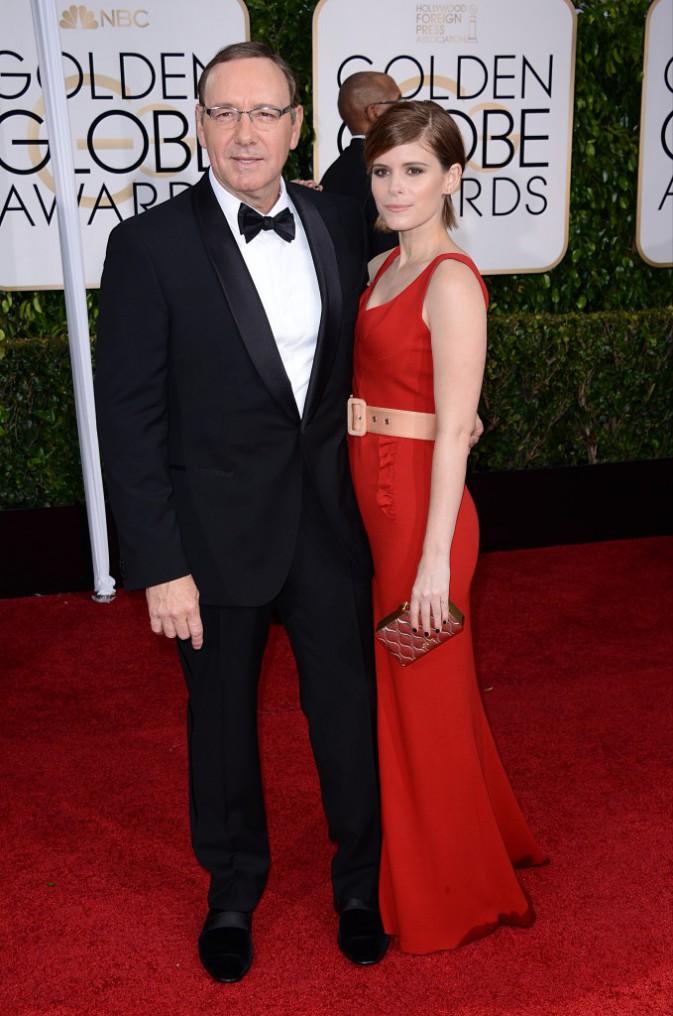 Kevin Spacey et Kate Mara le 11 janvier 2015