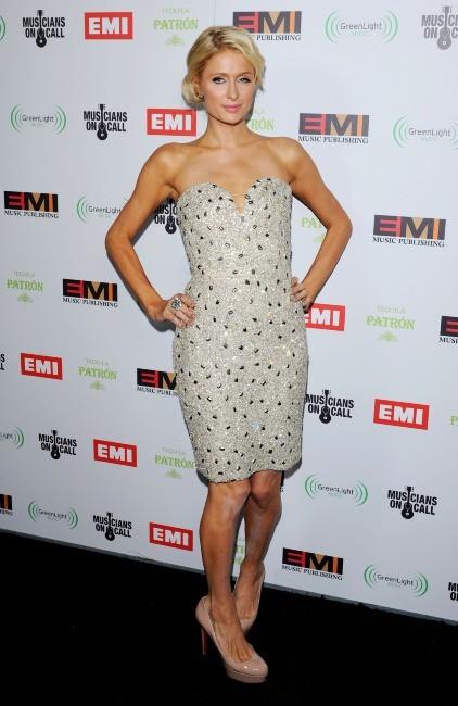 Paris Hilton lors de la soirée EMI Grammy After-Party à Los Angeles, le 12 février 2012.