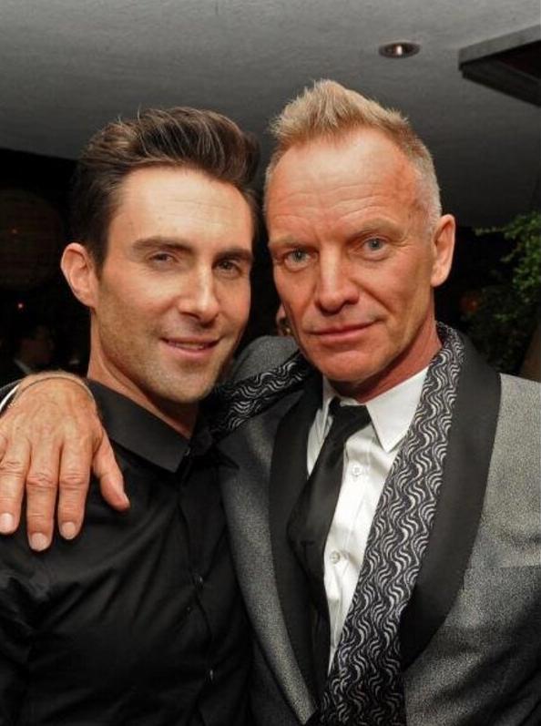 Sting et le chanteur Adam Levine !
