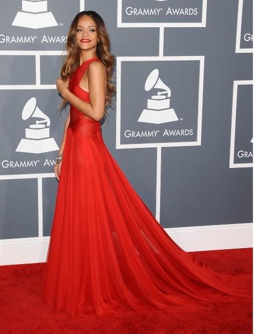 Rihanna lors de la 55e cérémonie des Grammy Awards à Los Angeles, le 10 février 2013.