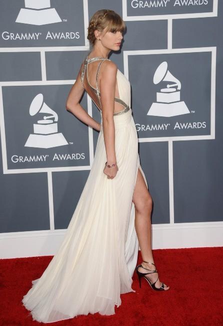 Taylor Swift lors de la 55e cérémonie des Grammy Awards à Los Angeles, le 10 février 2013.