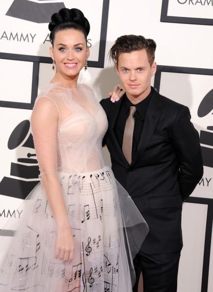Katy Perry et son frère David lors des Grammy Awards à Los Angeles, le 26 janvier 2014.