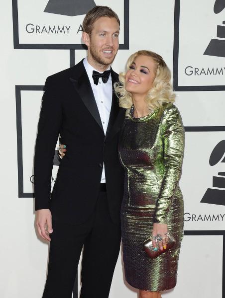 Calvin Harris et Rita Ora lors des Grammy Awards à Los Angeles, le 26 janvier 2014.