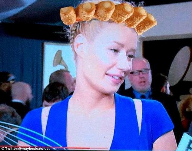 Photos : Grammy Awards 2015 : Iggy Azalea : la risée du net à cause de sa coiffure tressée !