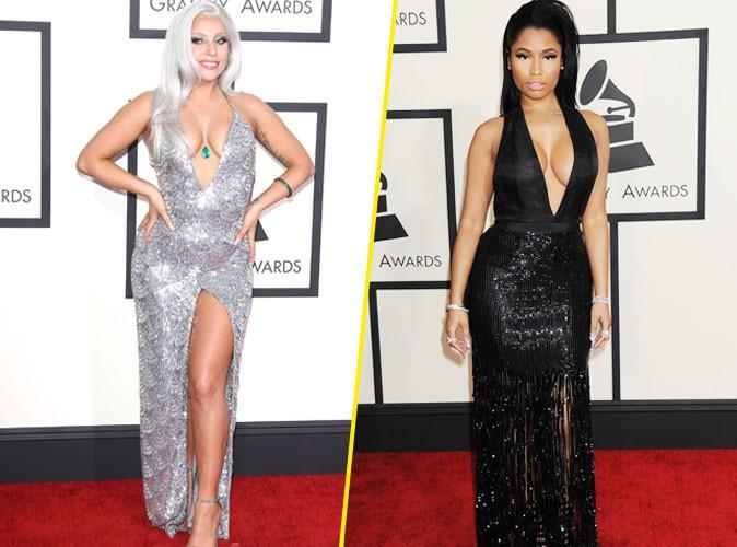 Lady Gaga et Nicki Minaj le 8 février 2015