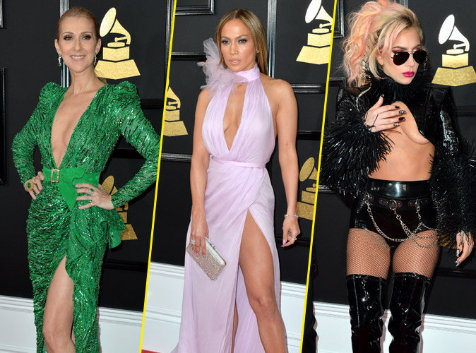 Grammy Awards 2017 : Céline Dion, J-Lo, Lady Gaga : Distinction, classe et... trash attitude sur le red carpet !
