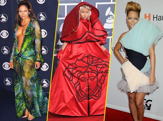 Photos : Grammy Awards : Jennifer Lopez, Nicki Minaj, Rihanna... Retour sur les pires looks de stars !