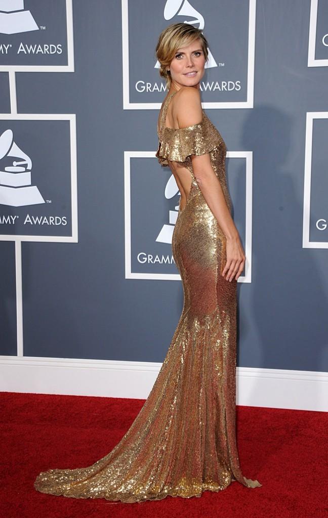 Heidi Klum, divine en doré !
