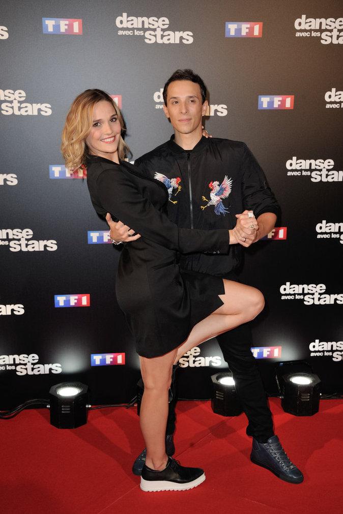 Camille Lou et Gregoire Lyonnet au photocall Danse avec les Stars, le 28 septembre 2016