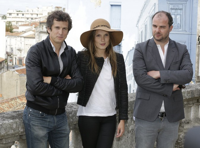 Guillaume Canet, Ana Girardot et Cédric Anger à Angoulême le 24 août 2014