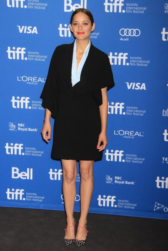 Marion Cotillard en promo lors du Festival International du Film de Toronto, le 10 septembre 2013.