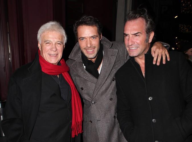 Guy Bedos, Nicolas Bedos et Jean Dujardin à Paris le 23 décembre 2013