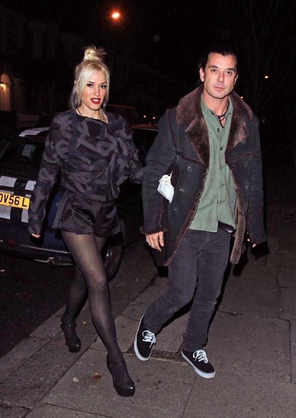 Gwen Stefani et Gavin Rossdale hier soir à Londres