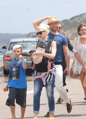 Gwen Stefani en Italie, le 30 juillet 2014