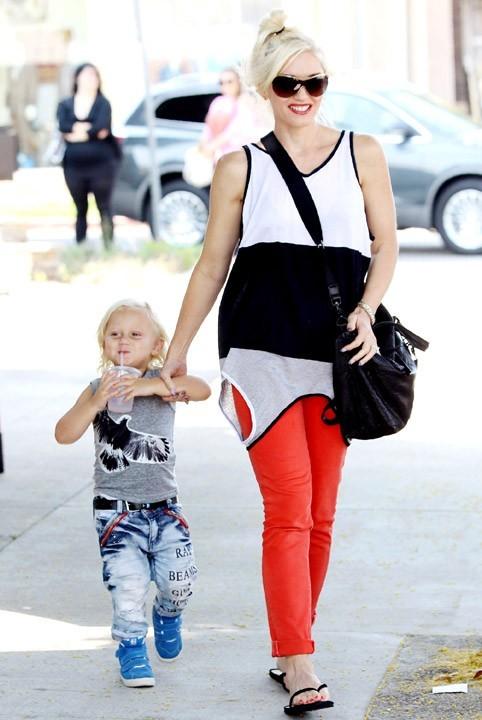 Gwen Stefani et son fils Zuma en balade à Los Angeles, le 15 septembre 2011.