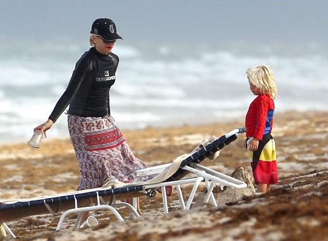 Gwen Stefani en famille, Palm Beach, 6 aout 2012.