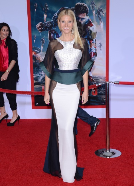 Gwyneth Paltrow lors de la première du film Iron Man 3 à Los angeles, le 24 avril 2013.