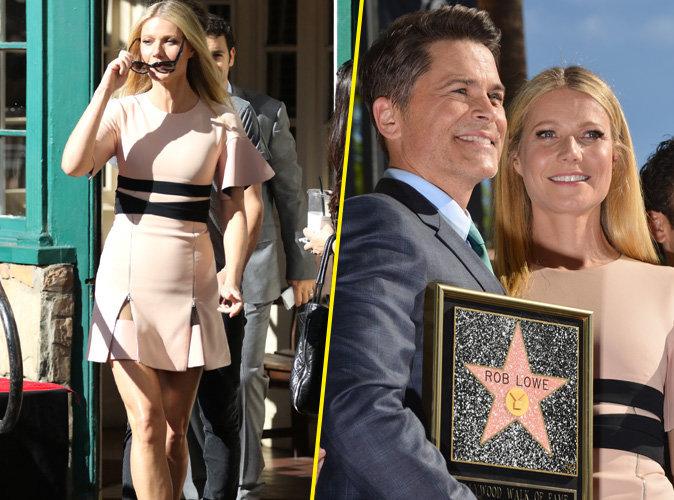 Gwyneth Paltrow : Tout juste cambriolée elle s'affiche rayonnante auprès de Rob Lowe