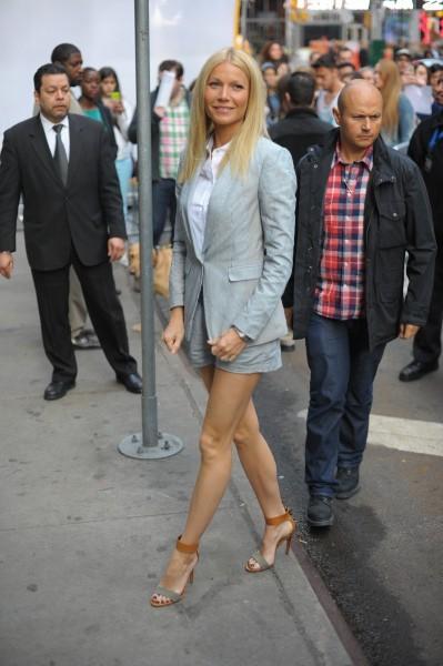 Gwyneth Paltrow se rendant sur le plateau de l'émission Good Morning America à New York, le 10 avril 2013.