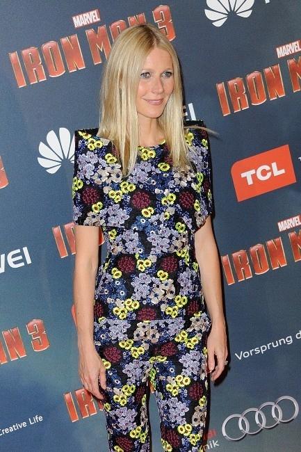 Gwyneth Paltrow à Paris pour la première d'Iron Man 3, le 14 avril 2013.