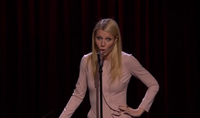 Gwyneth Paltrow chez Jimmy Fallon le 14 janvier 2015