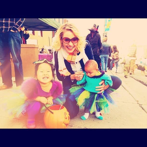 Katherine Heigl accompagnée de ses filles pour fêter Halloween !