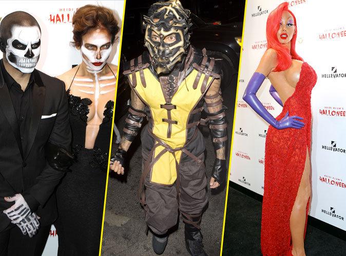 Photos : Halloween : JLO et Casper Smart, Tyga, Heidi Klum… Tous les costumes fous des people !