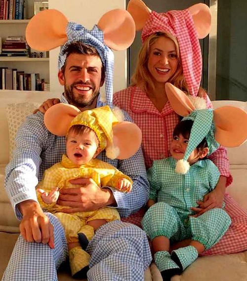 Shakira, Gerard Piqué et leurs enfants