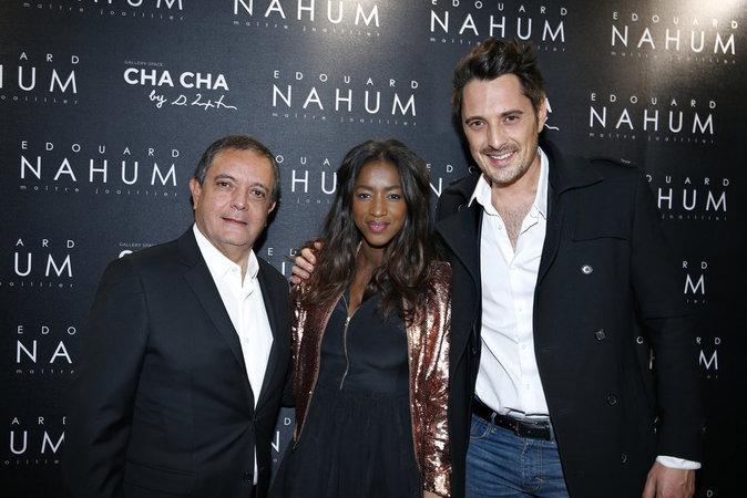 Edouard Nahum, Hapsatou Sy et Vincent Cerruti à Paris le 6 décembre 2016