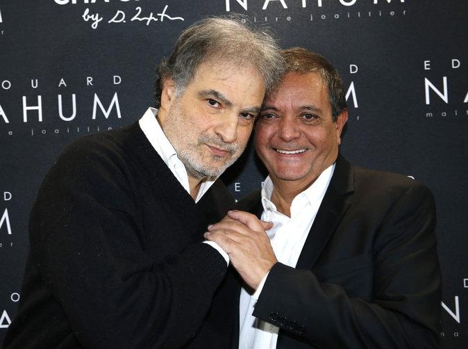 Raphaël Mezrahi et Edouard Nahum à Paris le 6 décembre 2016