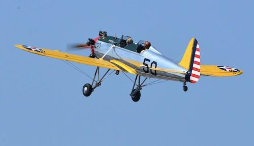 Harrison Ford dans son avion en 2013
