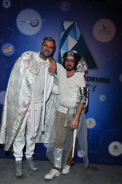 Eric Metzger et Quentin Margot à la soirée des Ambassadeurs au Bourget, le 18 octobre 2014