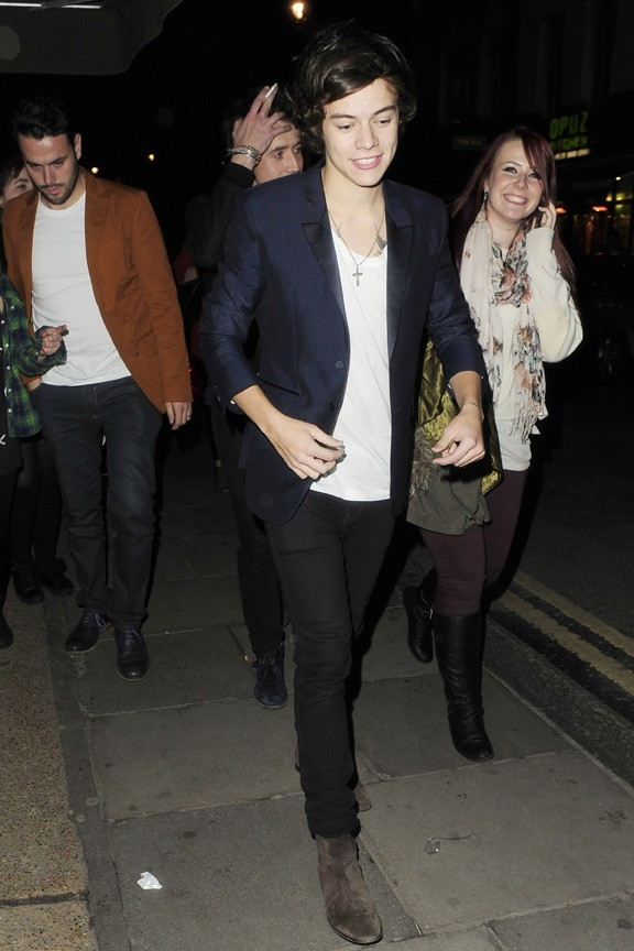 Harry Styles de sortie à Londres pour son 19ème anniversaire le 31 janvier 2013