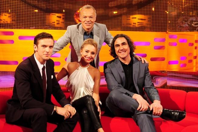 Hayden Panettiere sur le plateau du Graham Norton Show à Londres, le 6 juin 2013.