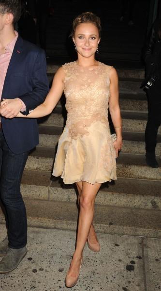 Hayden Panettiere arrive à la soirée Versus Versace à New York, le 15 mai 2013.