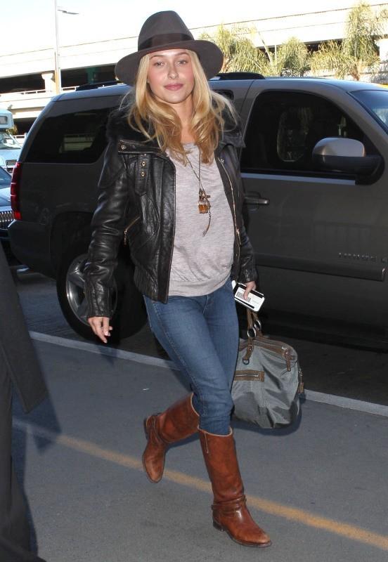 Hayden Panettiere à l'aéroport de Los Angeles, le 14 janvier 2013.