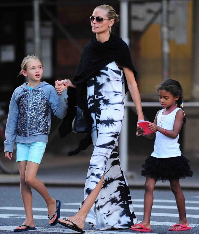 Heidi Klum : une maman comblée et décontractée avec ses 4 enfants pour aller dîner !