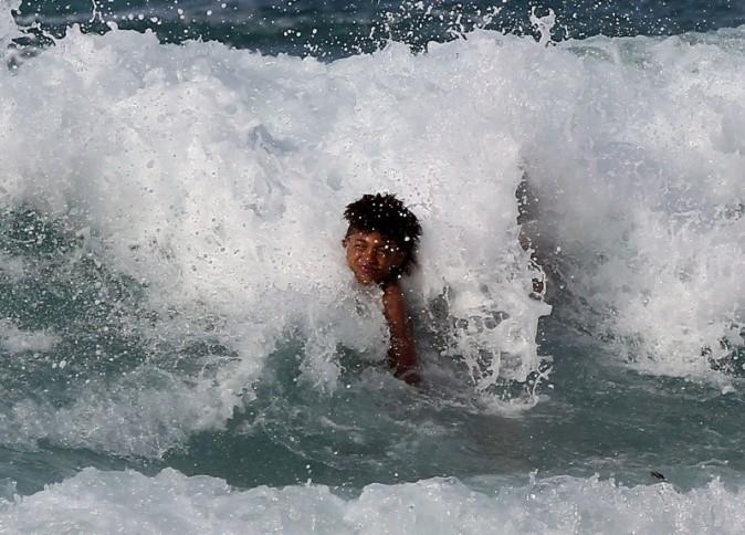 Henry le 1er avril 2013 sur une plage à Hawaii