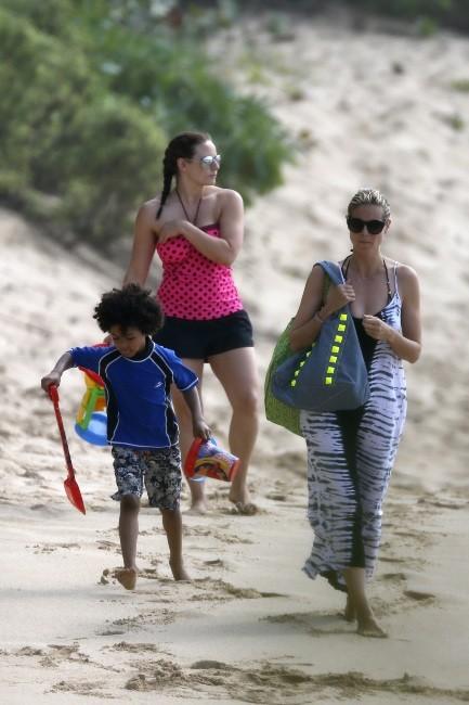 Heidi Klum en famille le 26 mars 2013 à Hawai