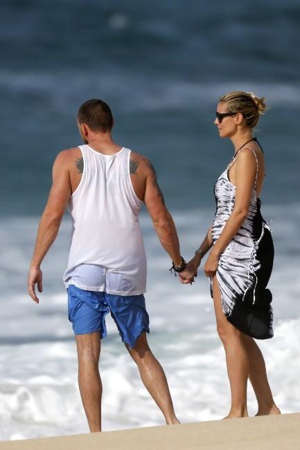 Heidi Klum et Martin Kristen le 26 mars 2013 à Hawai