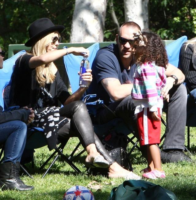 Heidi Klum et Martin Kristen en famille le 23 février 2013 à Brentwood