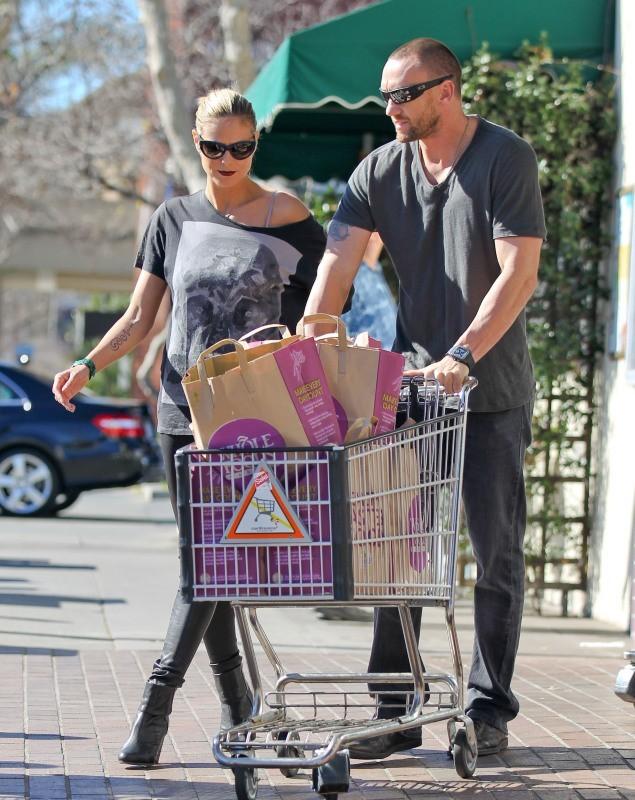 Heidi Klum et Martin Kristen le 20 janvier 2013 à Brentwood, en Californie