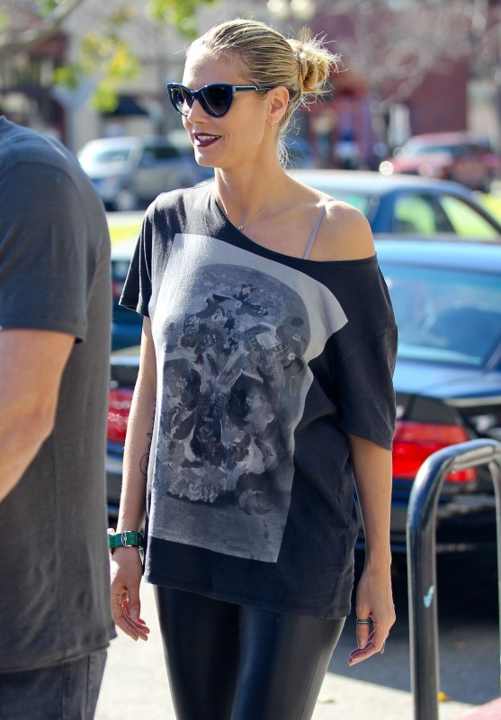 Heidi Klum le 20 janvier 2013 à Brentwood, en Californie