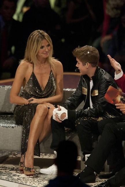 Heidi et Justin sur le plateau !