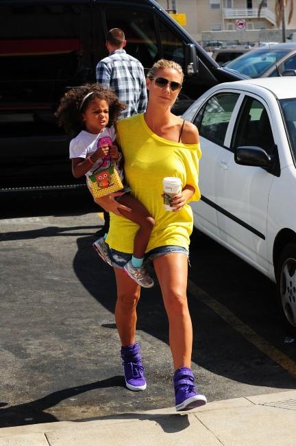 Heidi Klum et Martin Kristen, Los Angeles, 22 septembre 2012.