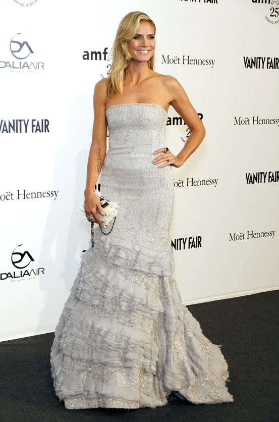 Heidi Klum au gala de l'amfAR à Milan hier soir !