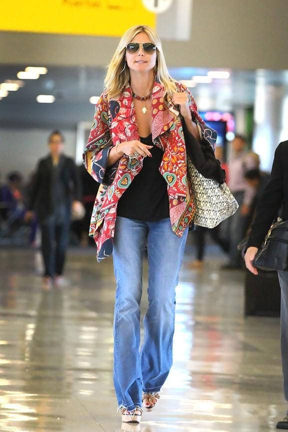 Heidi Klum à son arrivée à New-York le 3 septembre 2012