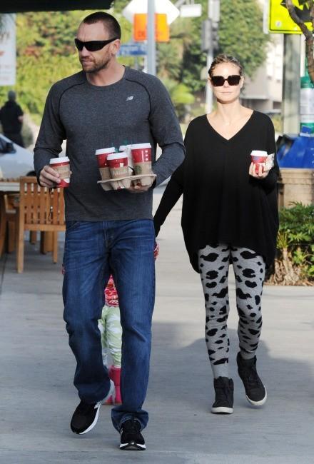 Heidi Klum et son boyfriend Martin Kristen le 25 novembre 2012 à Los Angeles