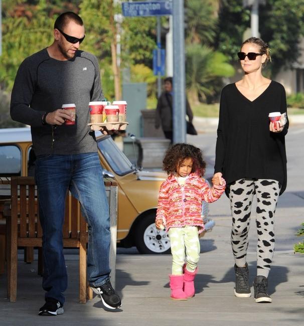 Heidi Klum, sa fille Lou et Martin Kristen le 25 novembre 2012 à Los Angeles