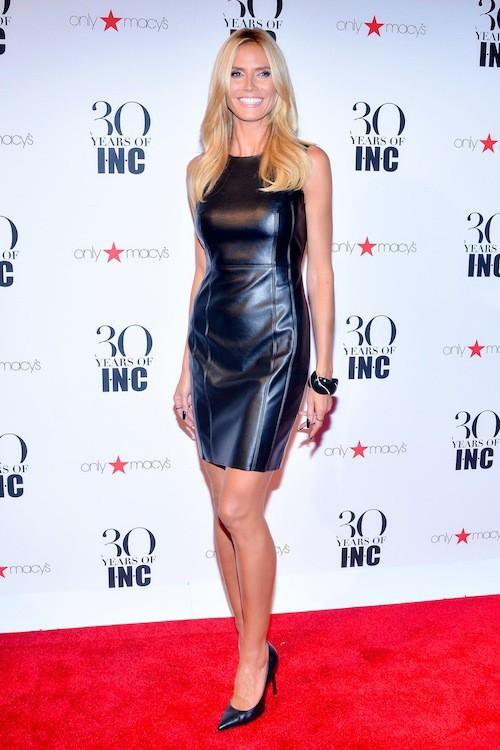 Photos : Heidi Klum en cuir, Karolina Kurkova en cloque à New York !